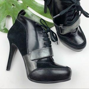 Guess Davette Lace-up Platform Booties Heelys 7.5